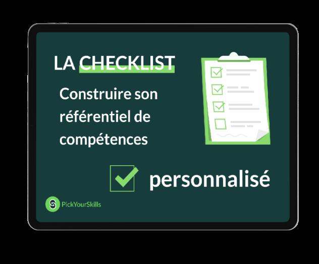checklist construire référentiel compétences pickyourskills