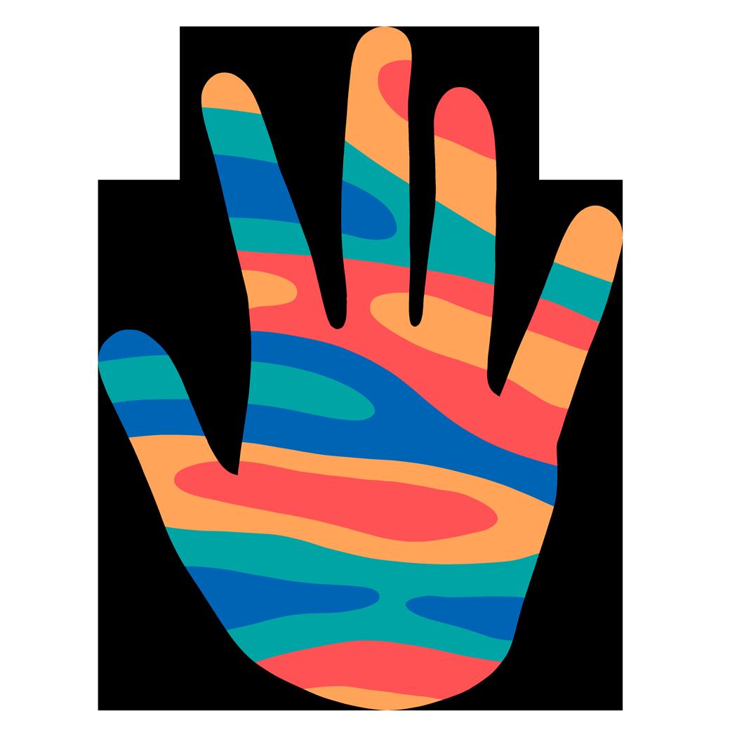 A colourful hand