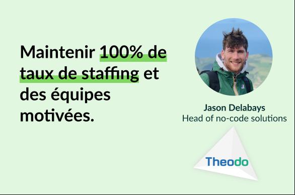 Maintenir 100% de taux de staffing et des équipes motivées