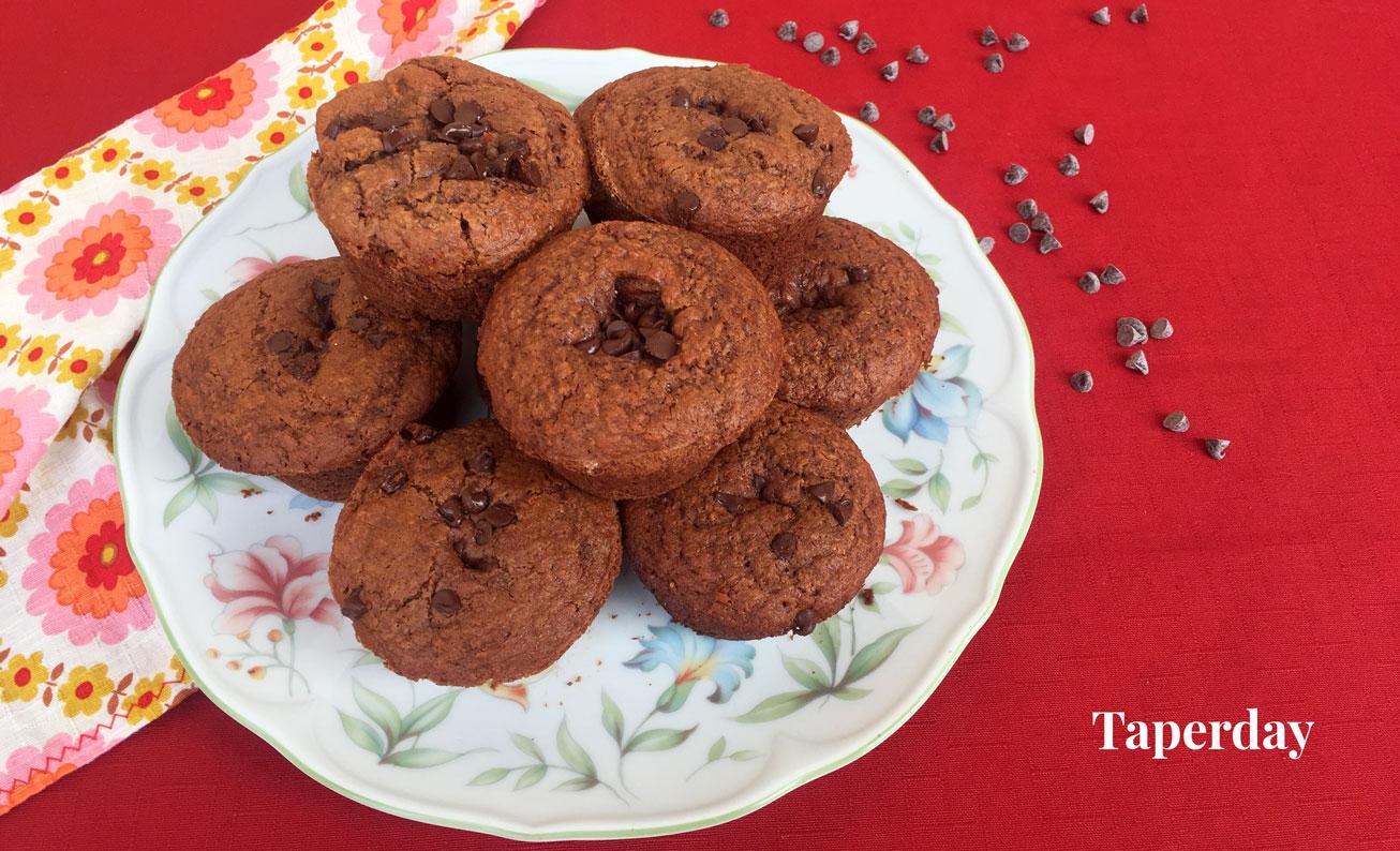 muffins de cacao sin lactosa