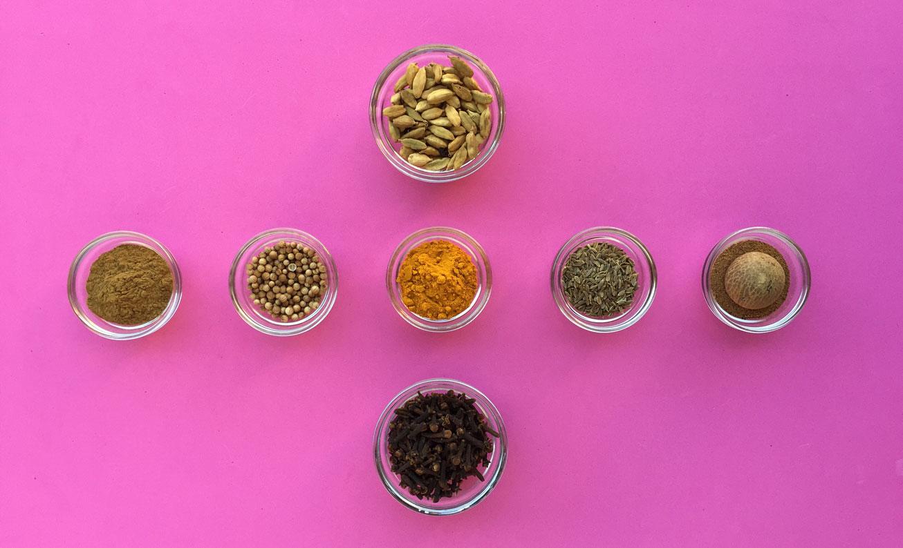 Mis ingredientes básicos para comer hindú