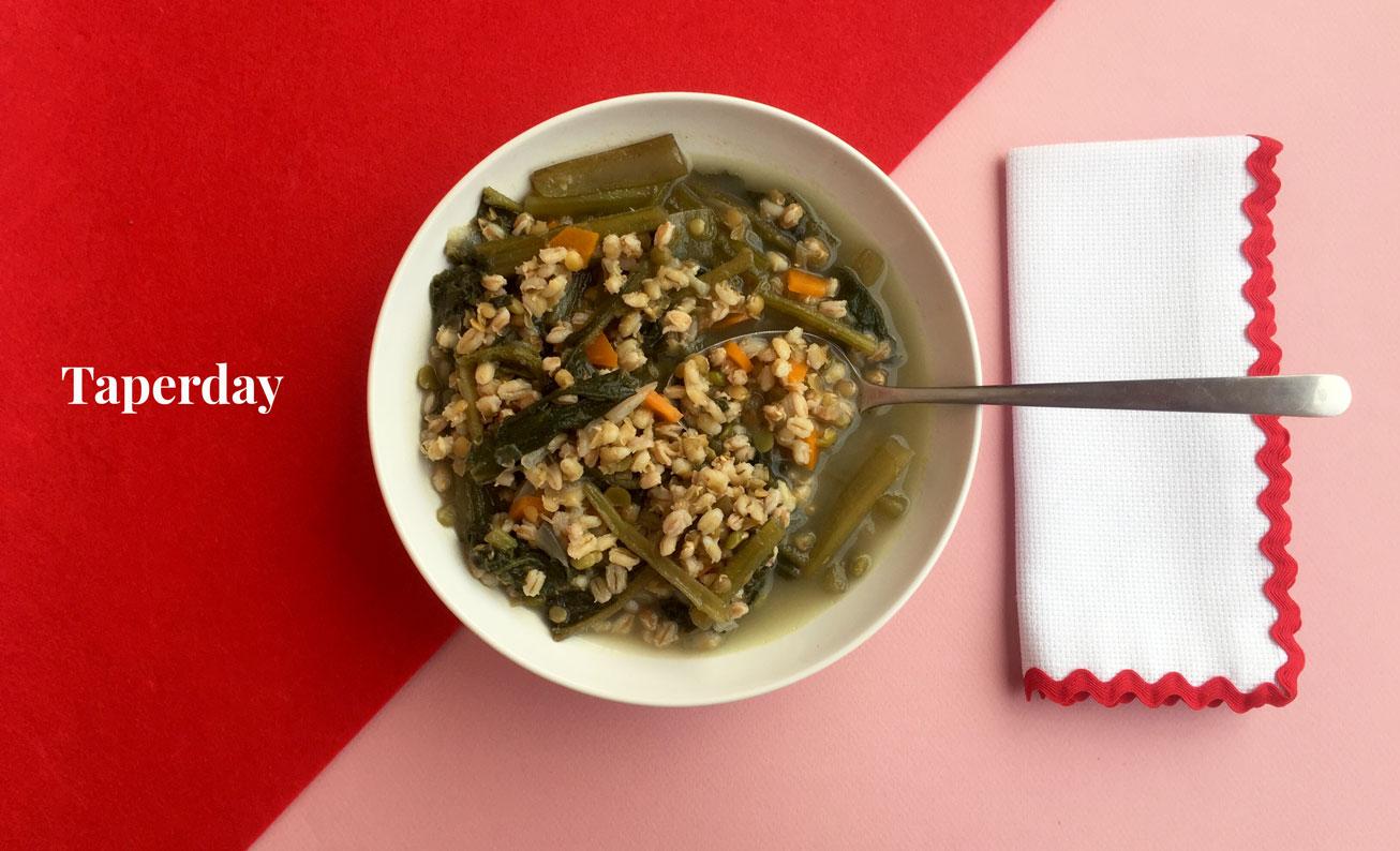 sopa de cereales con borraja