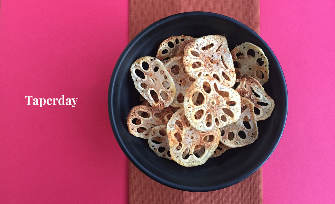 Chips de raíz de flor de loto
