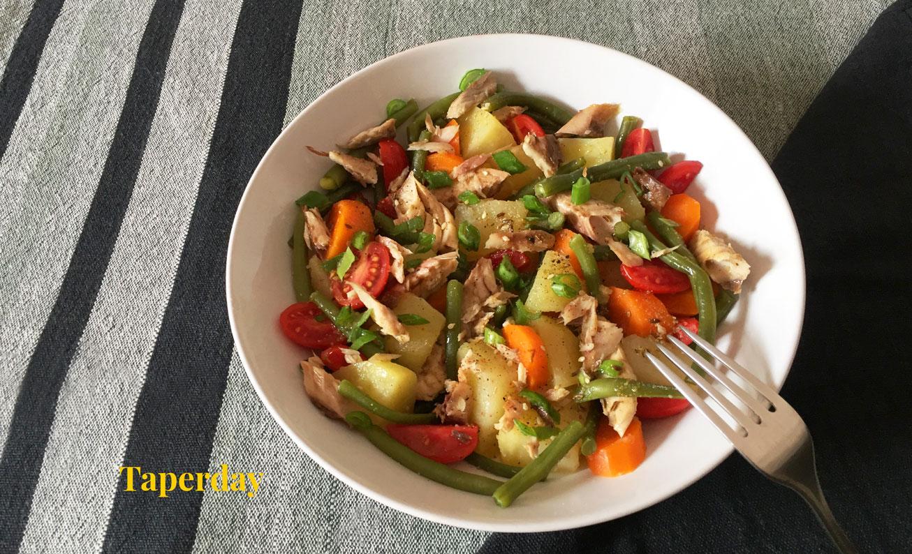 verduras con vinagreta de especias