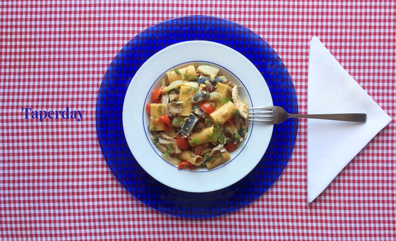 Pasta con sardinas e hinojo