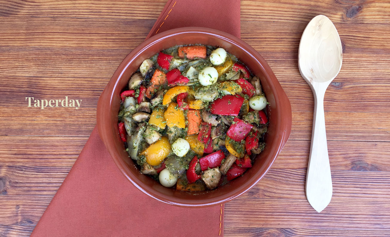 Verduras gratinadas al horno