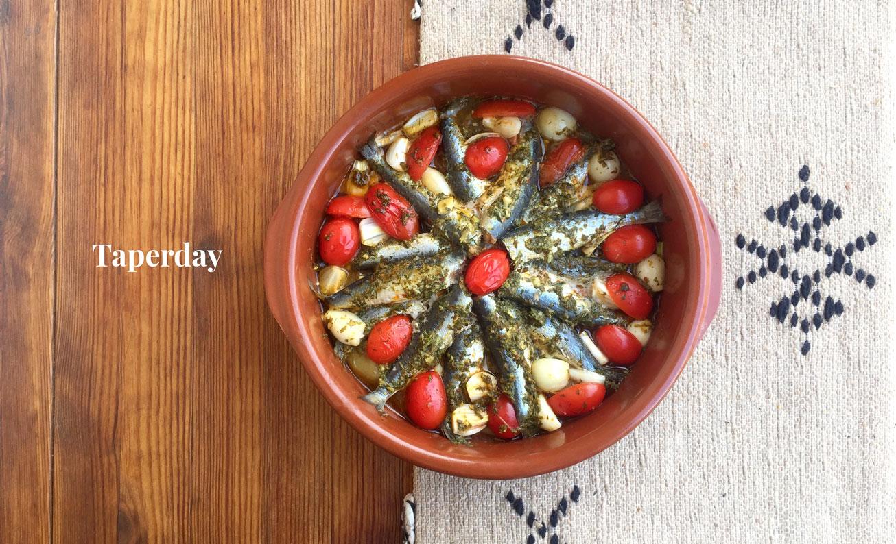 Sardinas en salsa chermoula