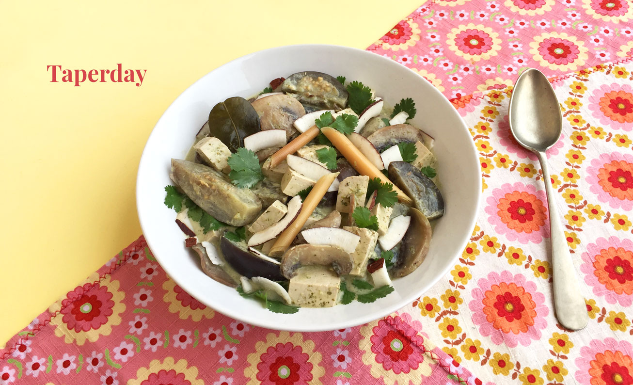 Curry verde vegano