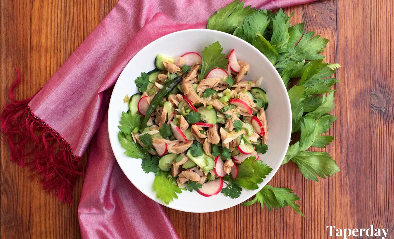 Ensalada vegana al estilo thai