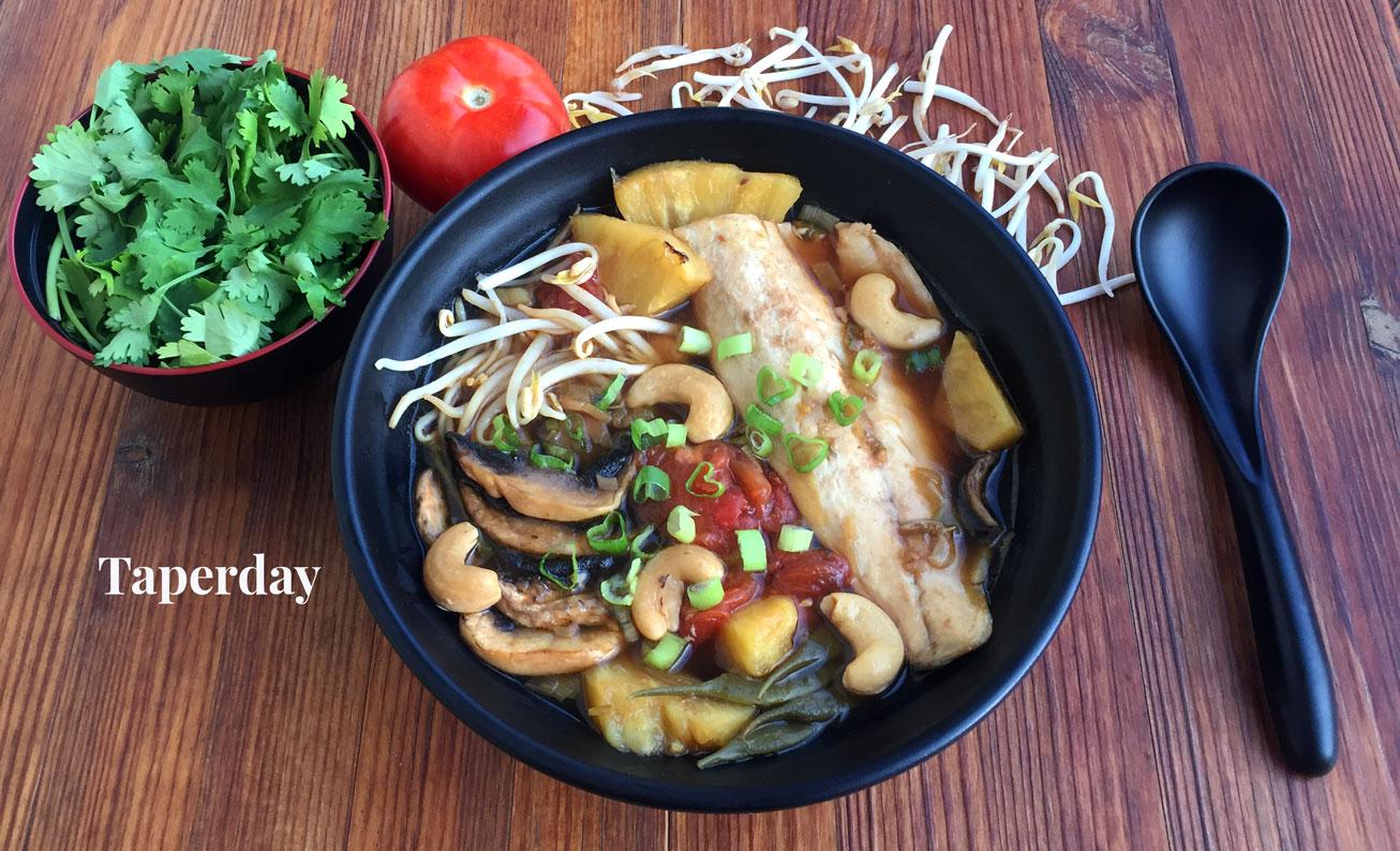 Sopa agridulce vietnamita (Canh Chua)