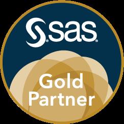 SAS Gold Partner Badge, Circle.