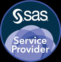 SAS Service Provider Badge, Circle.