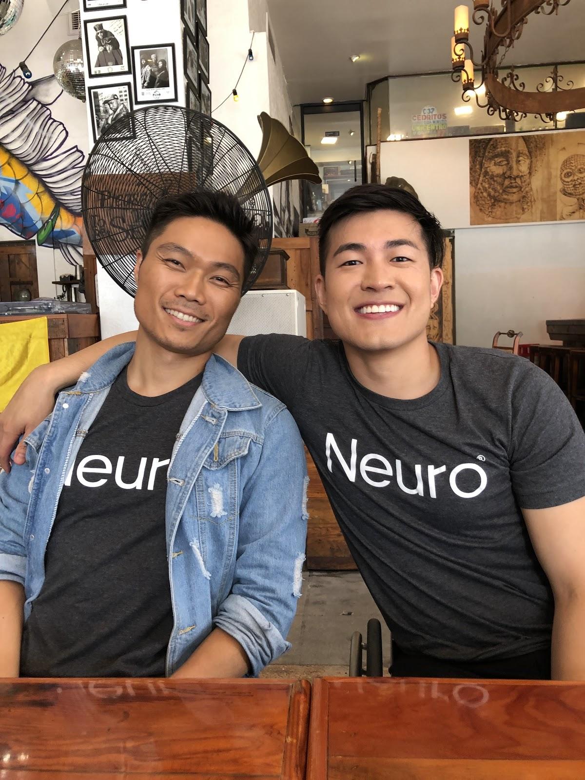 Kent Yoshimura and Ryan Chen, Co-Founders of Neuro, smiling.