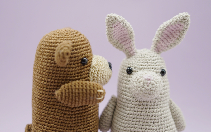 The Woobles crocheted animals.