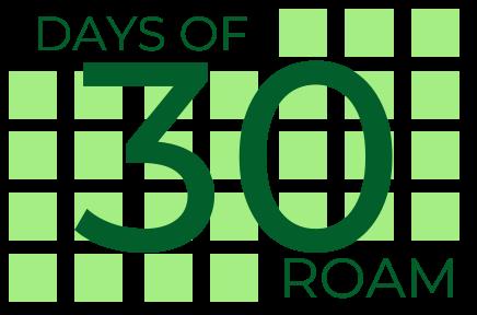 30 Days of Roam Logo