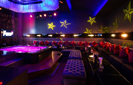 large private party room with shower for sexy shows at The PIMP Bangkok