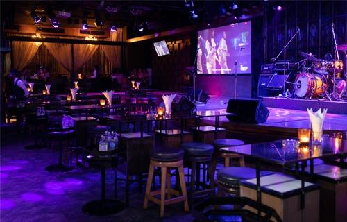 VIP standing tables at The PIMP Bangkok