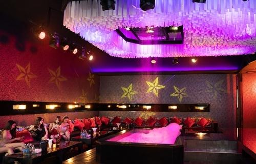 interior of a big party room at The PIMP club in Bangkok