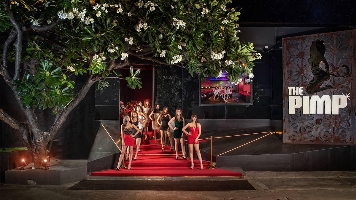 Girls Line up in front of the Pimp Bangkok Exclusive Club