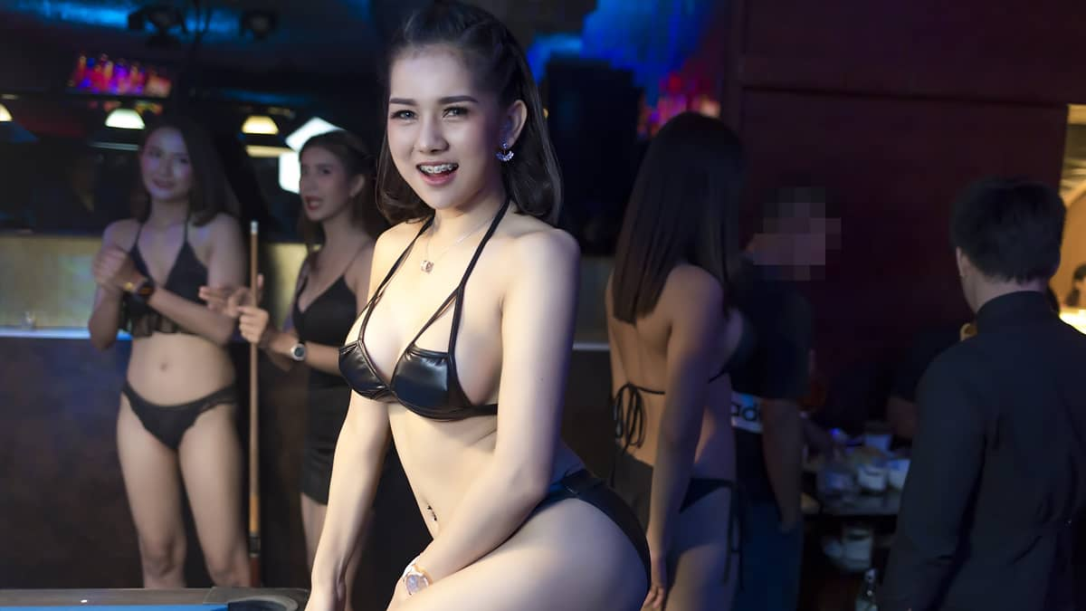 Beautiful Girl at the Pimp Bangkok