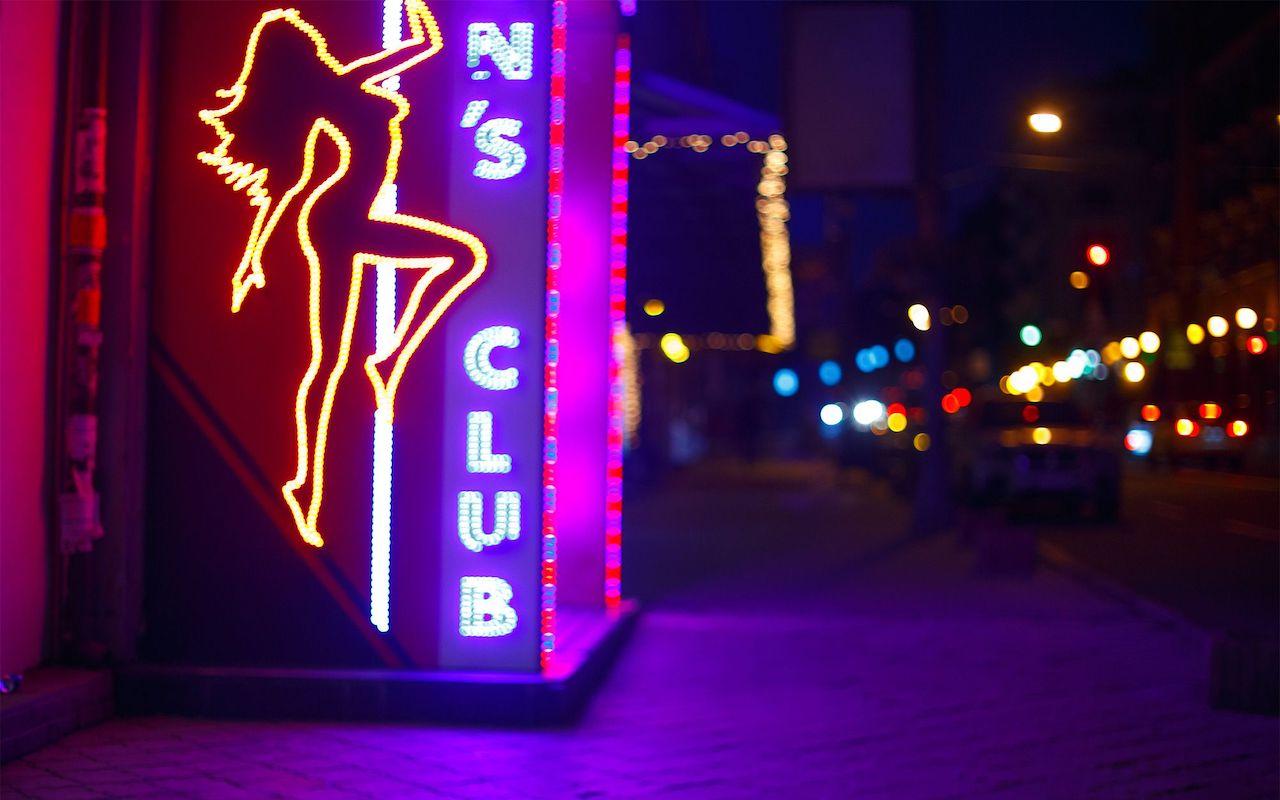 strip club sign