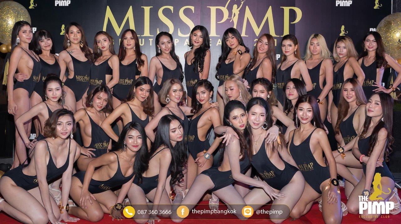 Thai models participating in Miss PIMP contest