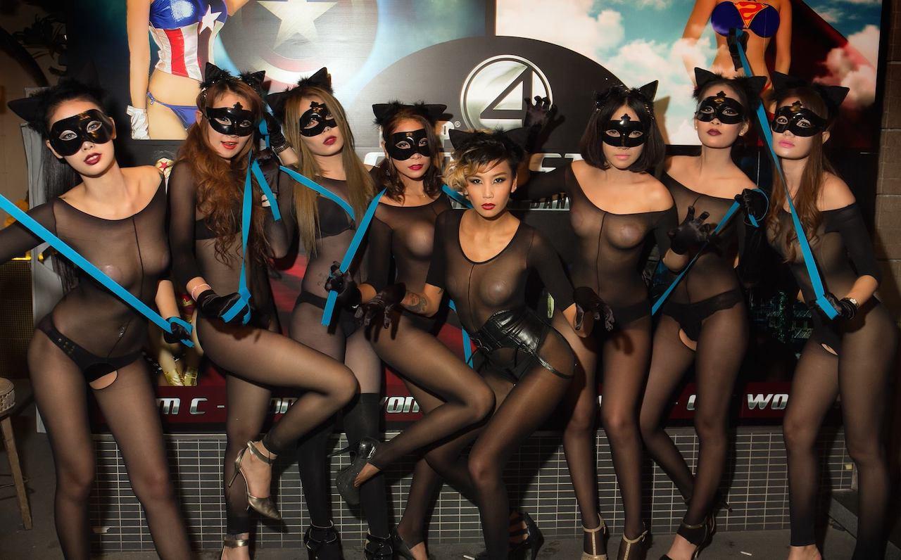 Fantastic 4 party at the PIMP Club in Bangkok