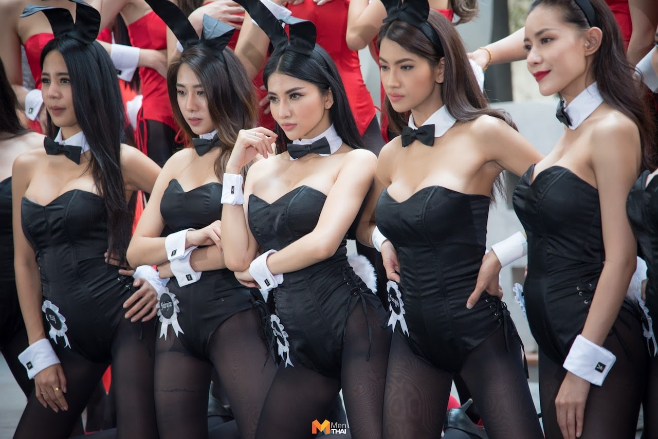 beautiful Playboy Thailand bunnies at a ceremony in Bangkok