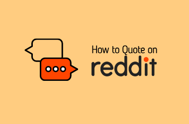 How to quote on reddit