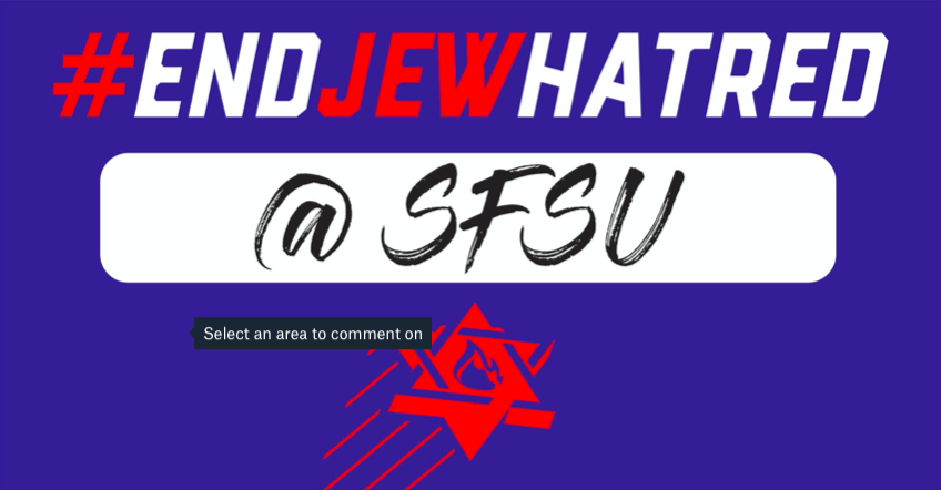 Poster - End Jew Hatred @ SFSU