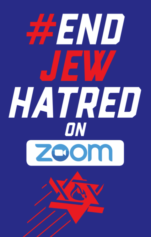 Poster (Large) - #EndJewHatred on Zoom