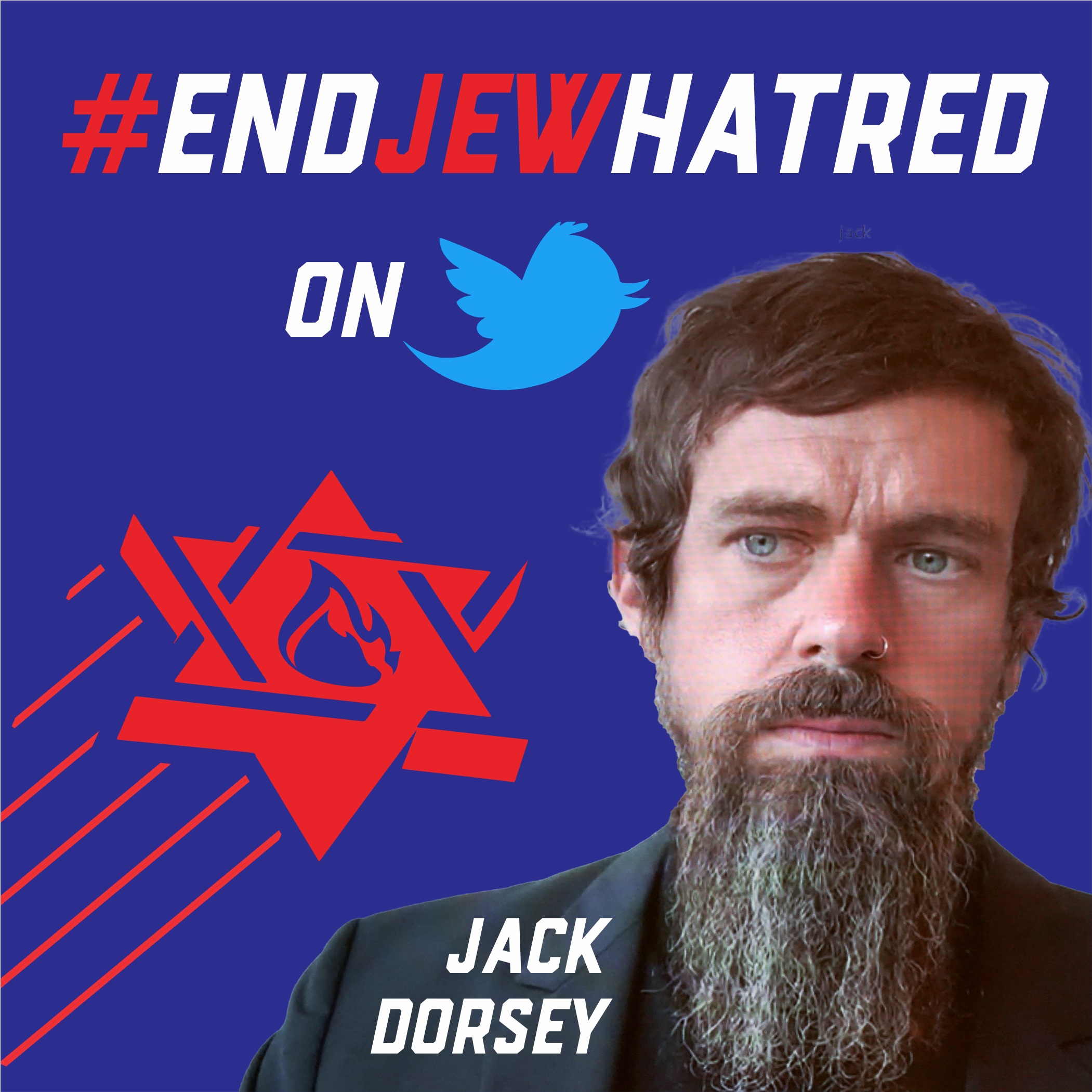 END JEW HATRED BLASTS HOLOCAUST DENYING TWEETS IN FRONT OF TWITTER CEO'S HOUSE