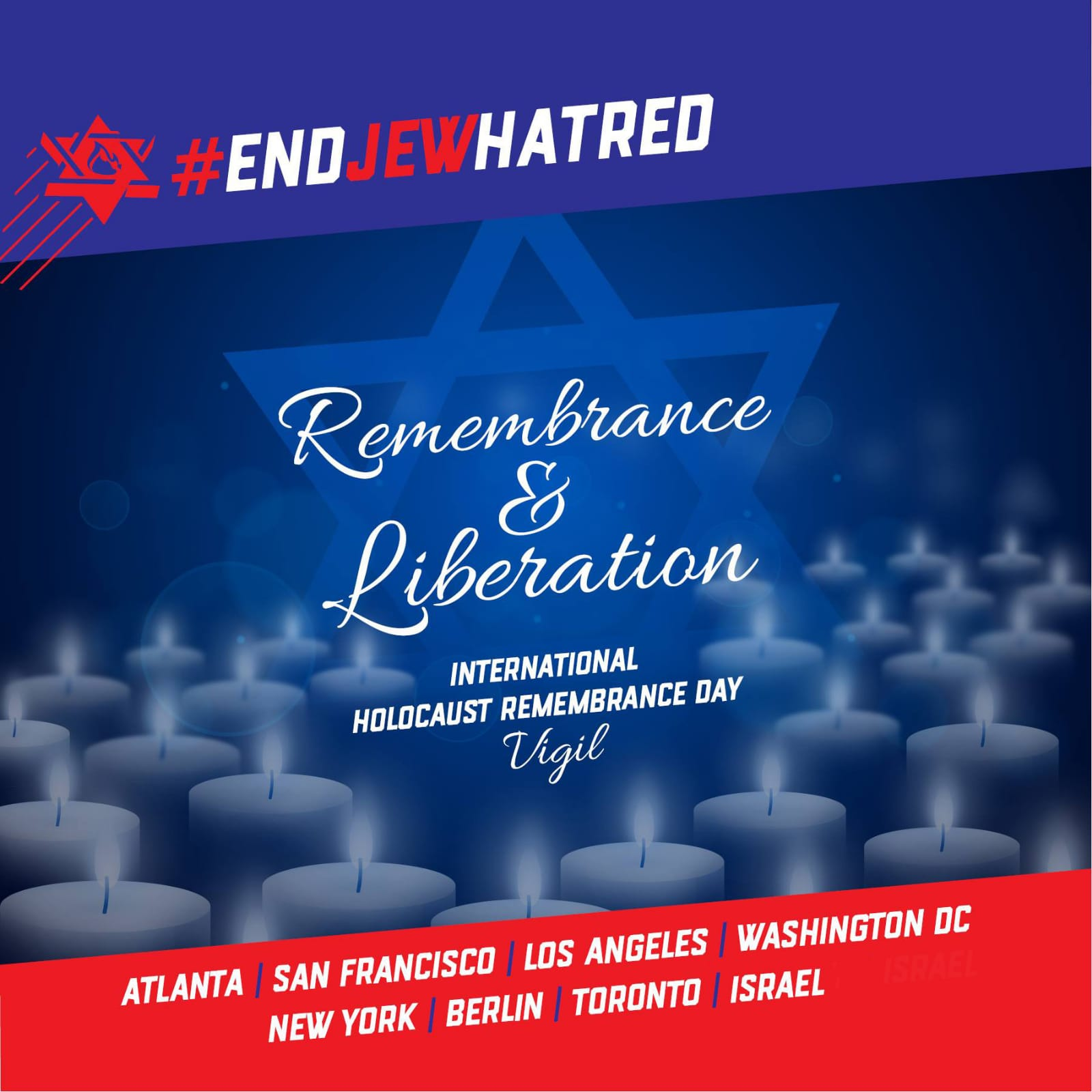 End Jew Hatred asks all supporters to join our online vigil this International Holocaust Remembrance Day