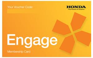 Honda engage gift card
