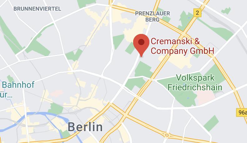 Cremanski & Company GmbHStrelitzer Straße 2210115 Berlin