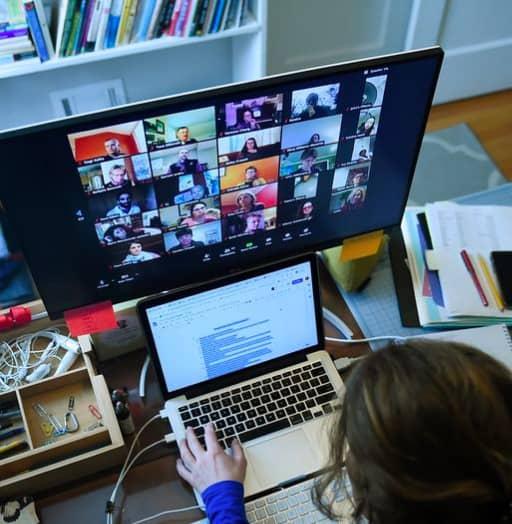 Social media post remote work