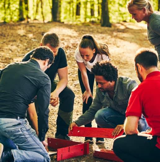 Social media post team building