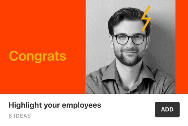 A social media post idea to highlight employees