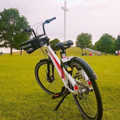 Bleeper bike in Phoenix park, Dublin.