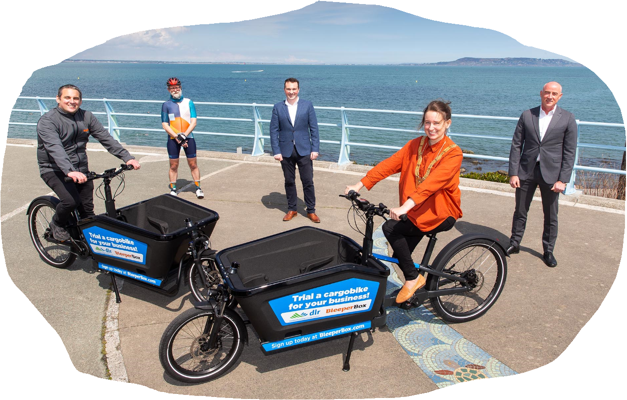 Dun Laoghaire Rathdown and Bleeper eCargo bikes