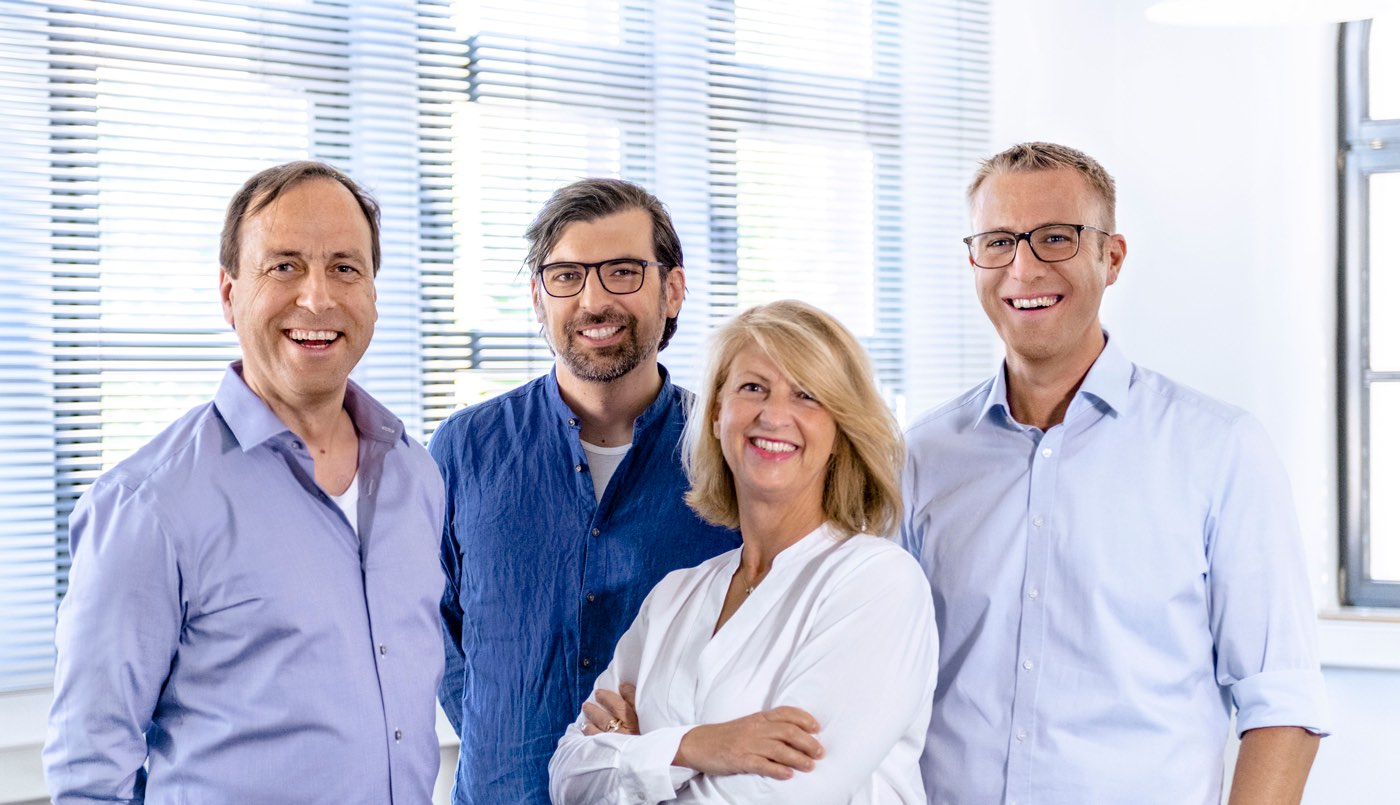 Management: from left to right: Frank Rayker, Jens Leven, Claudia Berkenhoff and Thomas Bausch