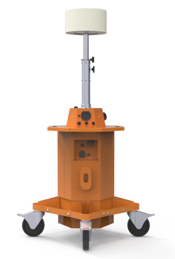 Portable battery-powered temporary light tower
