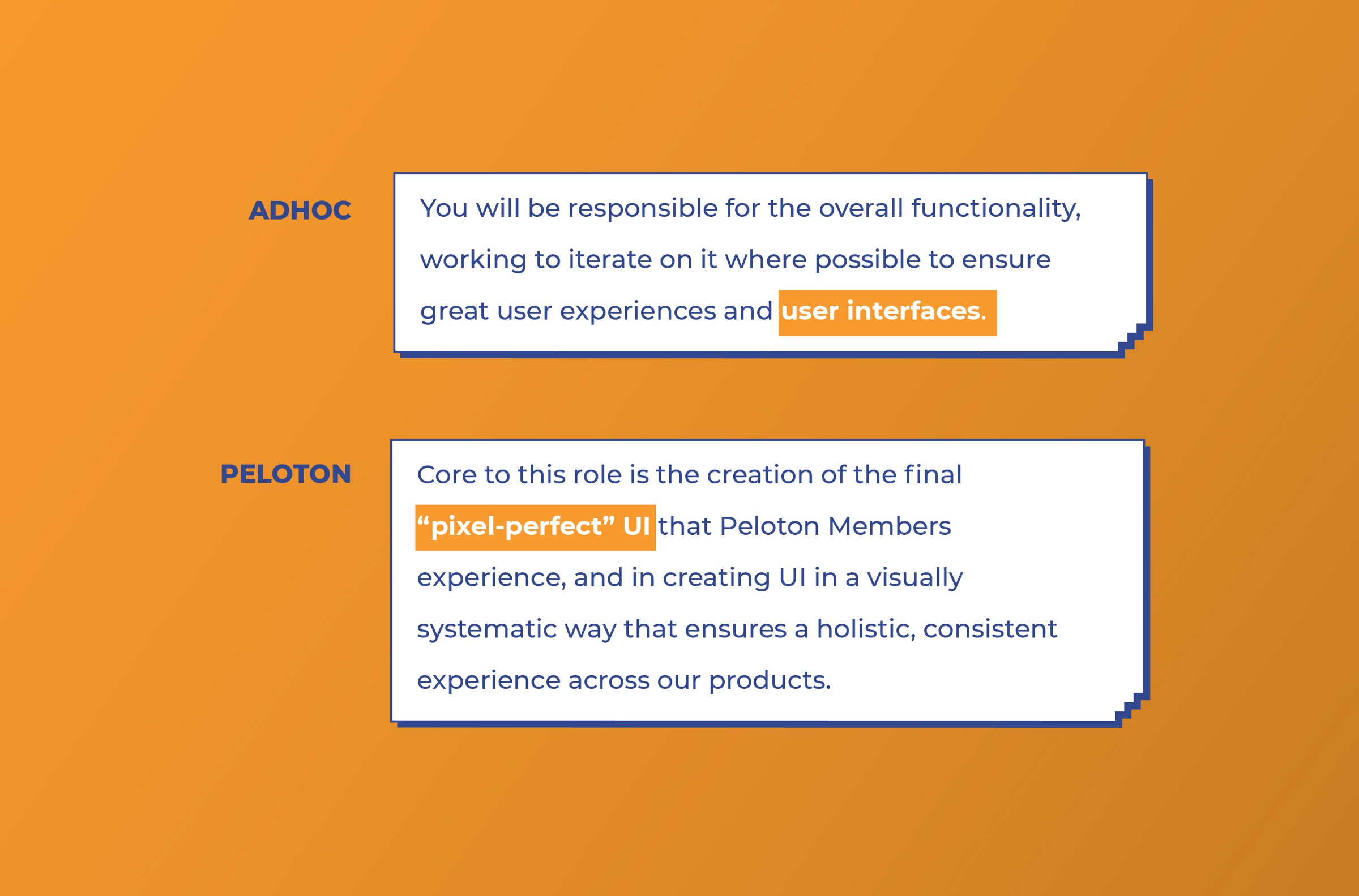 Adhoc and Peloton look for UI work from UI designers
