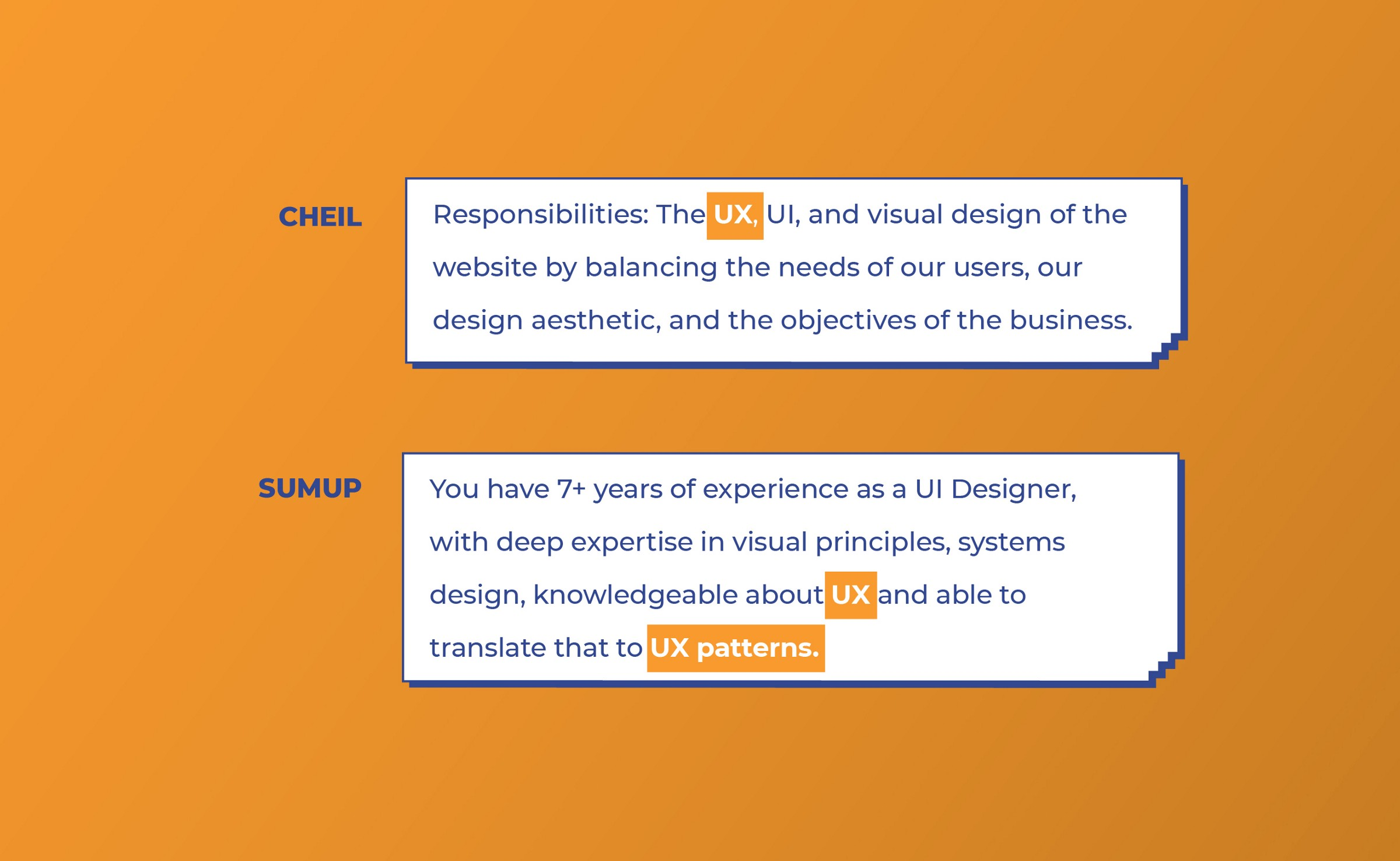 Cheil and Sumpup look for UX work from UI designers