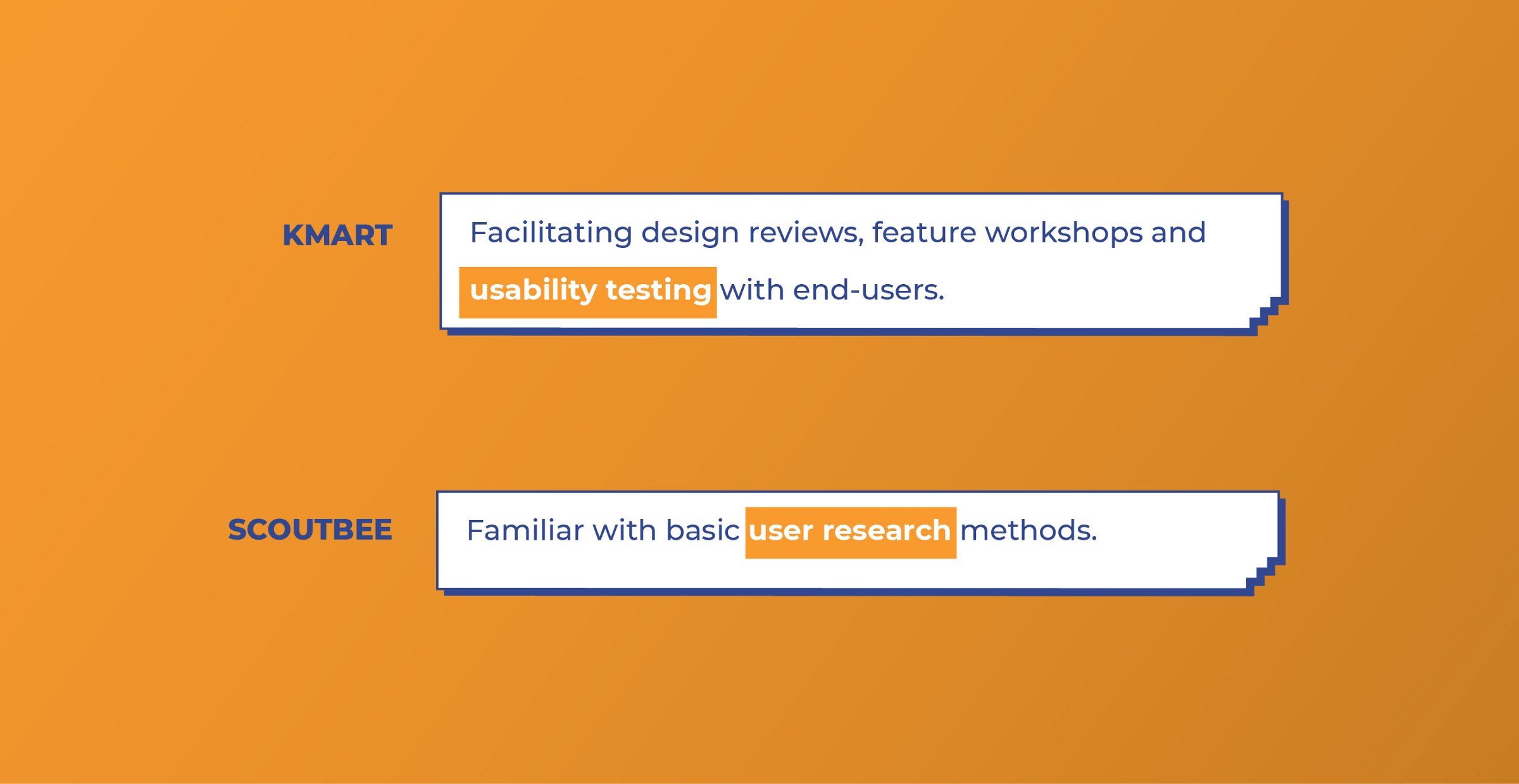 Kmart and Scoutbee look for User Research work from UI designers