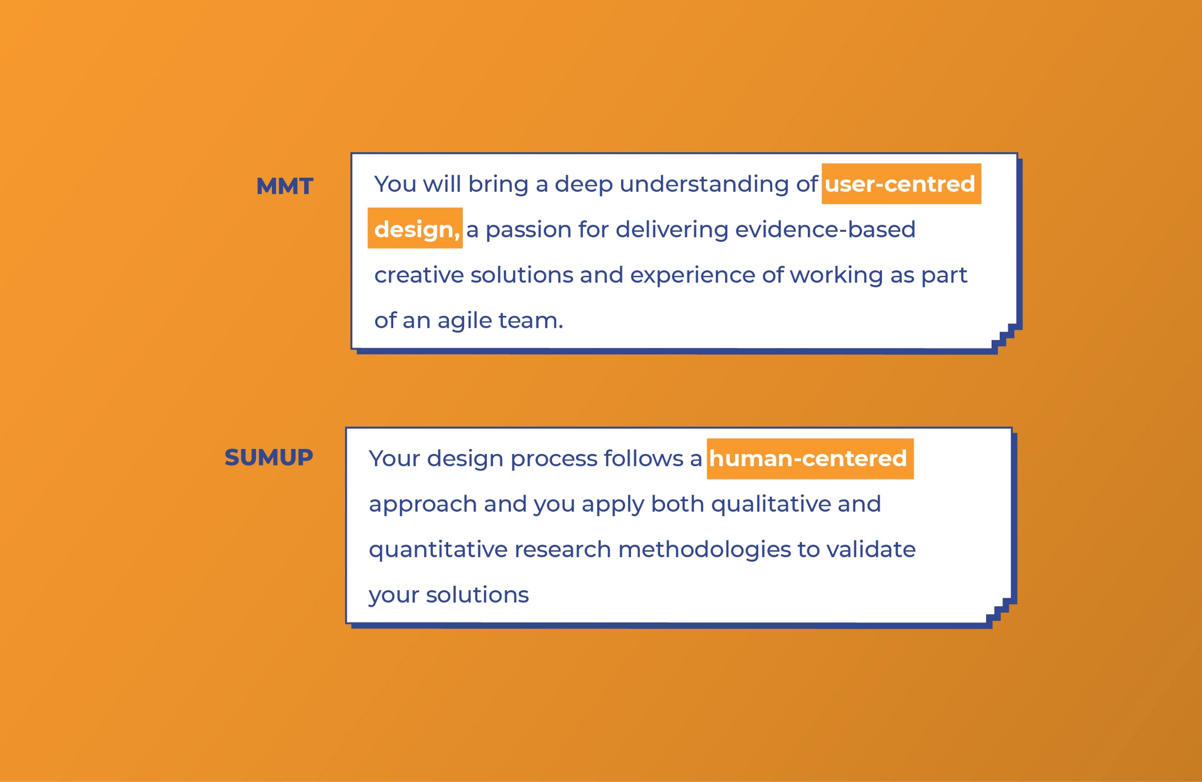 MMT and Sumup look for User-centered design skills from UI designers