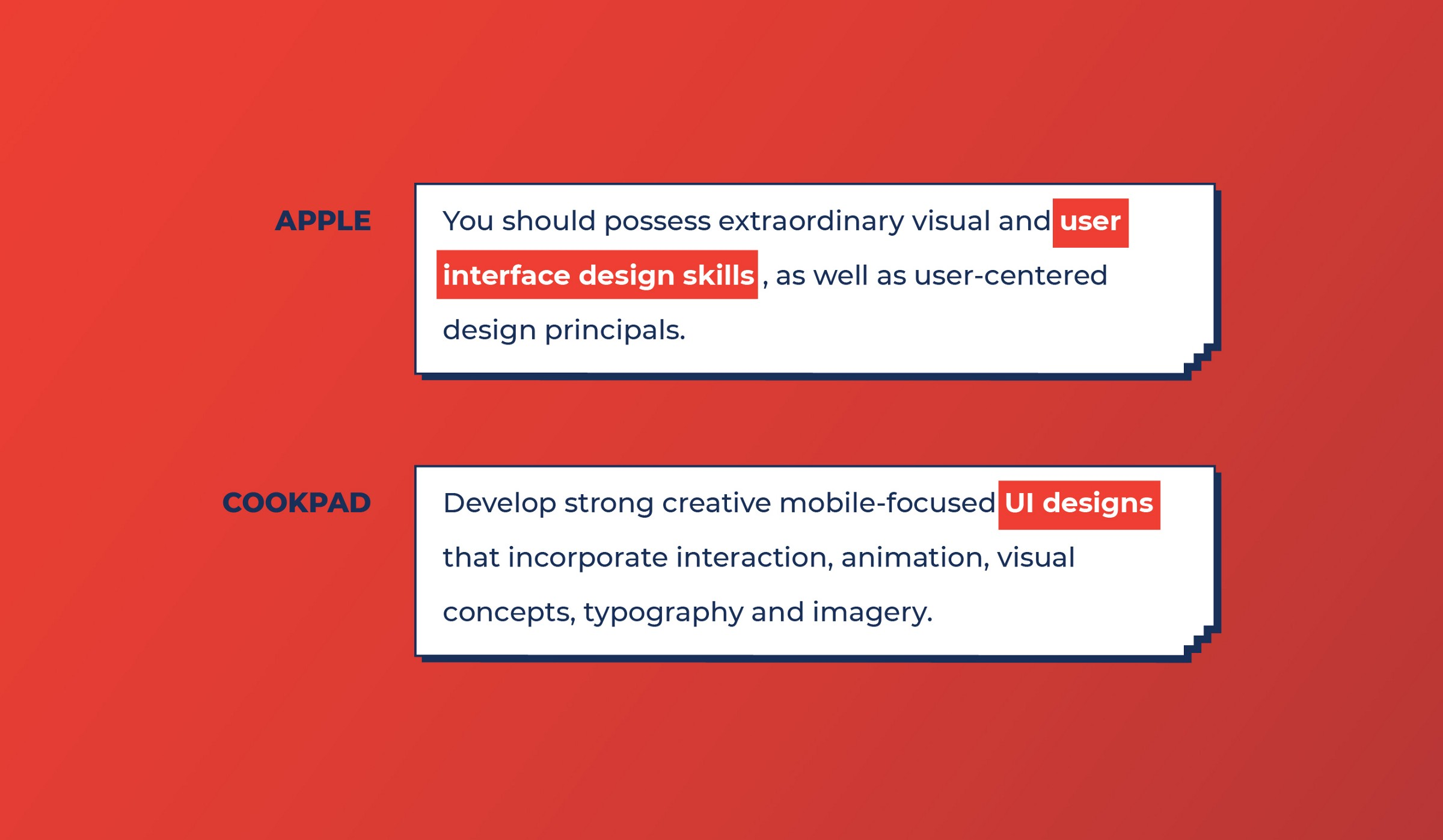 Apple and Cookpad look for UI work from Product designers