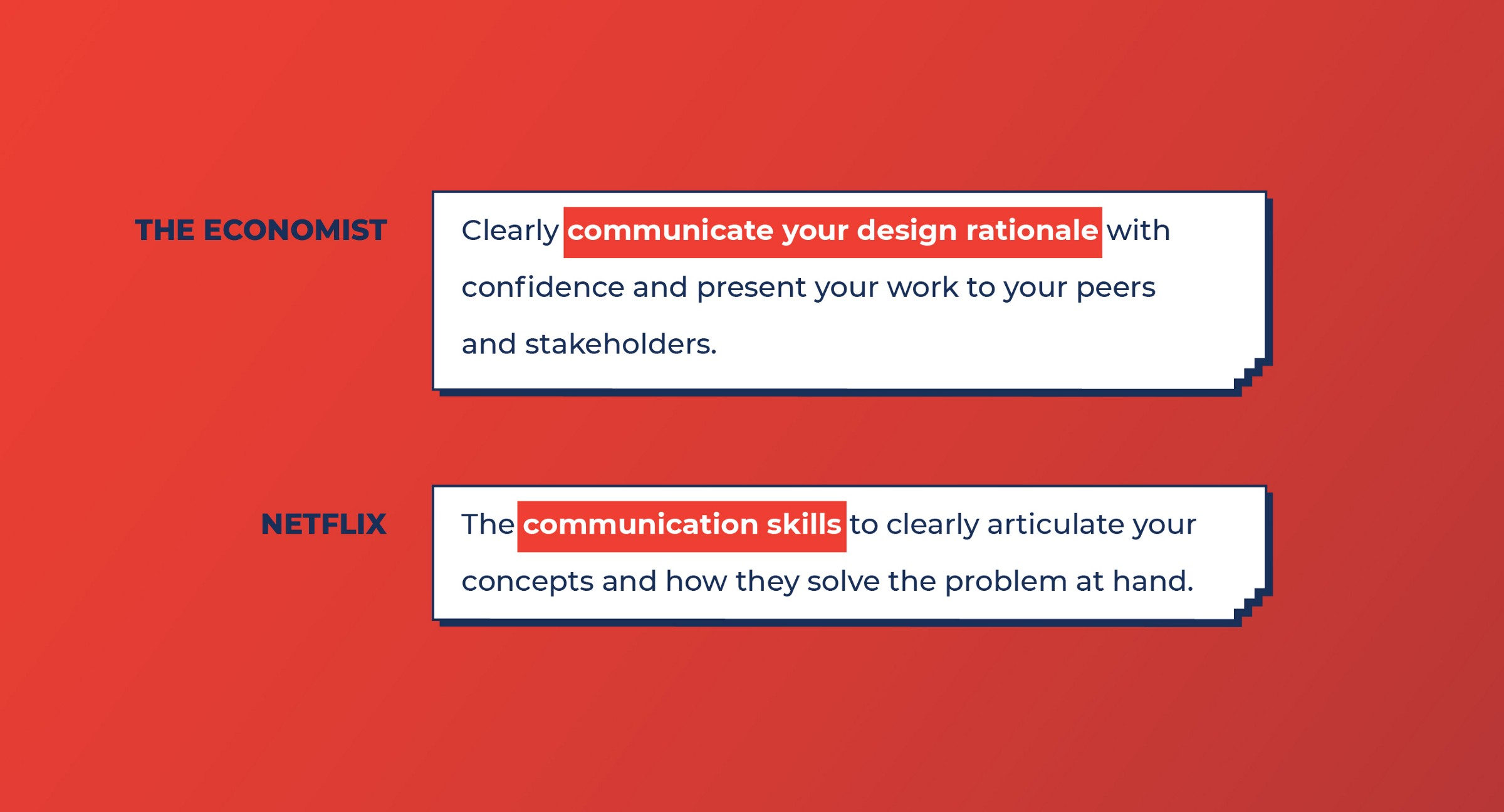 The Economist and Netflix look for Communication skills from Product designers