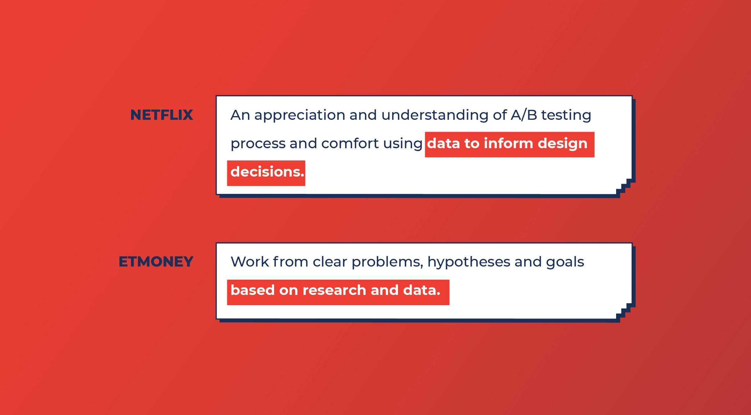 Netflix and Etmoney look for Data-driven design skills from Product designers