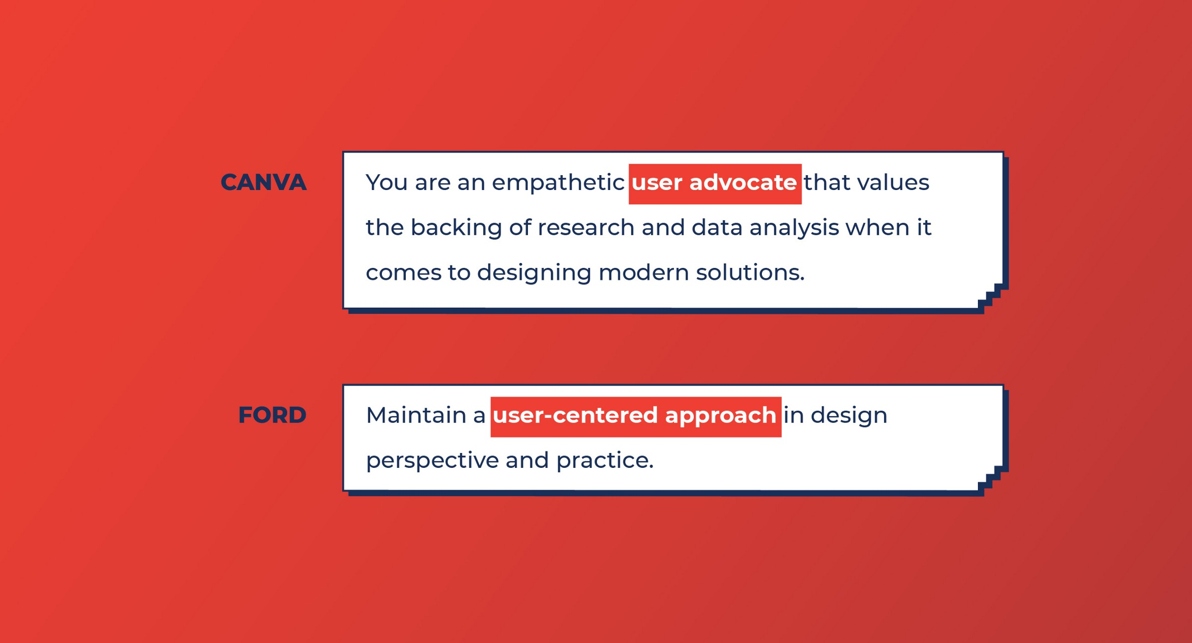 Canva and Ford look for User-centered design skills from Product designers
